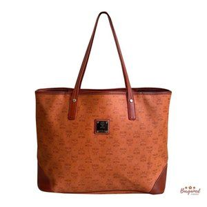 Authentic MCM Monogram Shopper Tote Bag